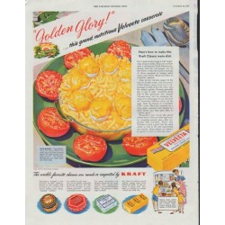 "1948 Kraft Ad ""Golden Glory"""