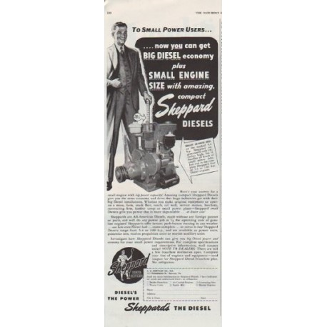 """1948 Sheppard Ad """"Small Power Users"""""""