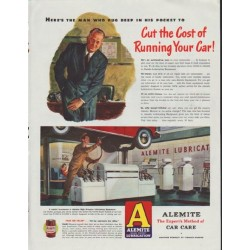 "1948 Alemite Ad ""Cut the Cost"""