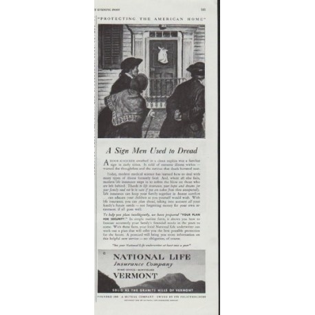 "1948 National Life Insurance Company Ad ""A Sign"""
