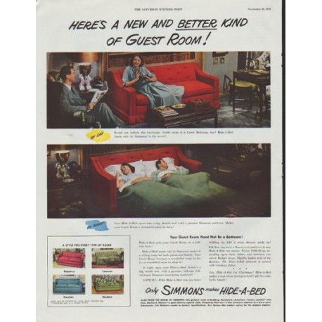 "1948 Simmons Ad ""New And Better"""