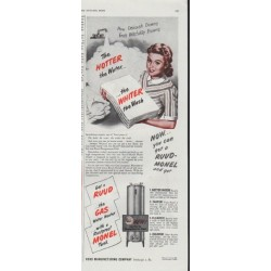 "1948 Ruud Manufacturing Company Ad ""Hotter the Water"""
