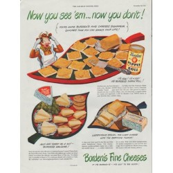 "1948 Borden's Ad ""Now you see 'em"""