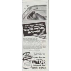 "1948 Walker Exhaust Ad ""Rusty, Leaky Mufflers"""