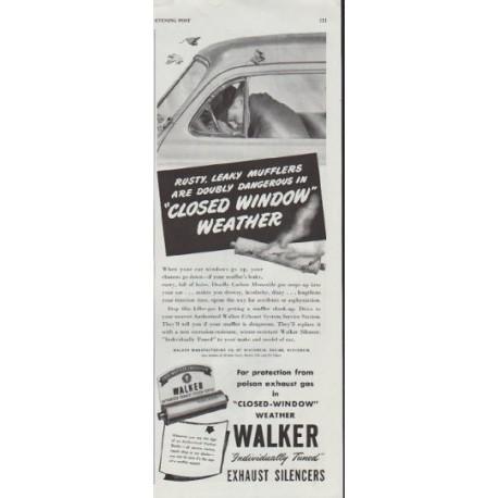 "1948 Walker Exhaust Ad ""Rusty, Leaky Mufflers"""