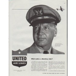 "1948 United Air Lines Ad ""Mainliner"""