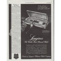 "1948 Longines-Wittnauer Watch Ad ""Most Honored Watch"""