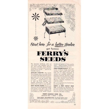 "1953 Ferry-Morse Seed Co. Ad ""Start Here"""