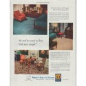 """1948 Bigelow Rugs and Carpets Ad """"new carpet"""""""