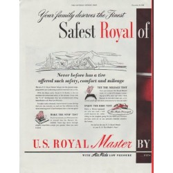 "1948 U. S. Rubber Ad ""Safest Royal"""