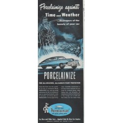 "1948 Porcelainize Ad ""Time and Weather"""