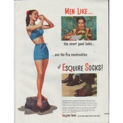 "1948 Esquire Socks Ad ""Men Like"""