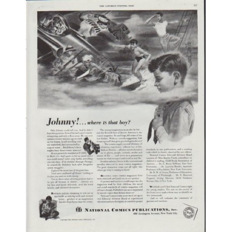 "1948 National Comics Publications Ad ""Johnny"""
