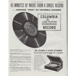 "1948 Columbia Records Ad ""45 Minutes"""