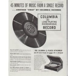 "1948 Columbia Records Ad ""45 Minutes"""