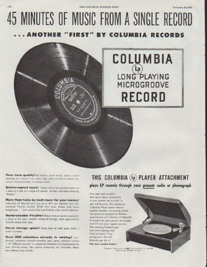 1948 Columbia Records Vintage Ad Quot 45 Minutes Quot