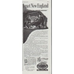 "1948 New England Electric System Ad ""I met New England"""