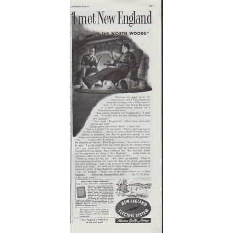 """1948 New England Electric System Ad """"I met New England"""""""