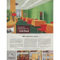 "1948 Gold Bond Ad ""remodel better"""