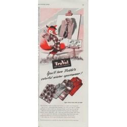 "1948 TruVal Ad ""colorful winter sportswear"""
