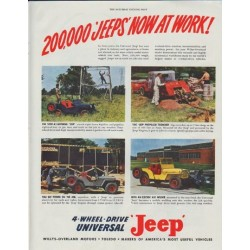 "1948 Jeep Ad ""Now At Work"""