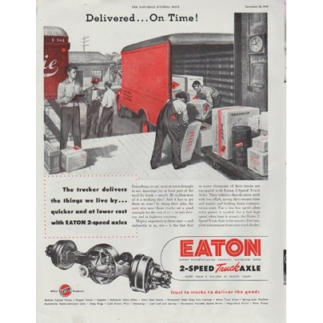 "1948 Eaton Ad ""Delivered"""
