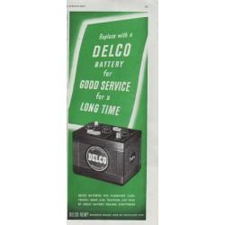 """1948 Delco Ad """"Good Service"""""""