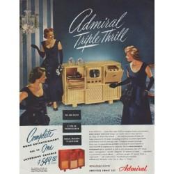 "1948 Admiral Radio Ad ""Triple Thrill"""