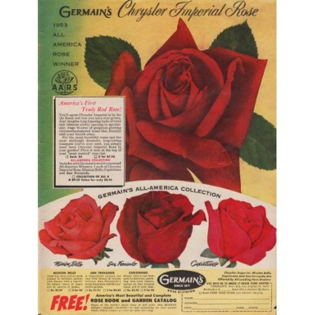 "1953 Germain's Ad ""Chrysler Imperial Rose"""
