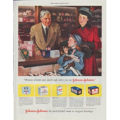 "1948 Johnson & Johnson Ad ""Mommy always says"""