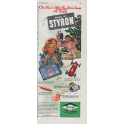 "1948 Dow Plastics Ad ""Made of Styron"""