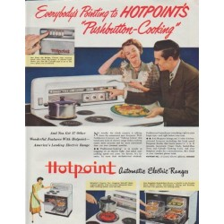 "1948 Hotpoint Ad ""Everybody's Pointing"""