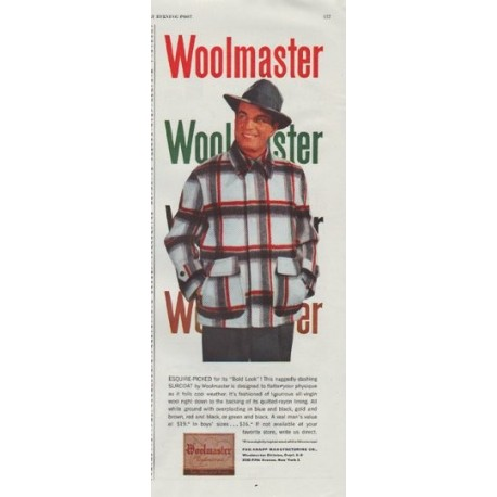 "1948 Woolmaster Ad ""Esquire-Picked"""