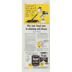 "1948 Commercial Solvents Corporation Ad ""Use your head"""