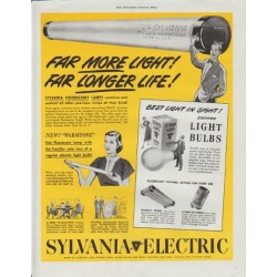 "1948 Sylvania Electric Ad ""Far More Light"""