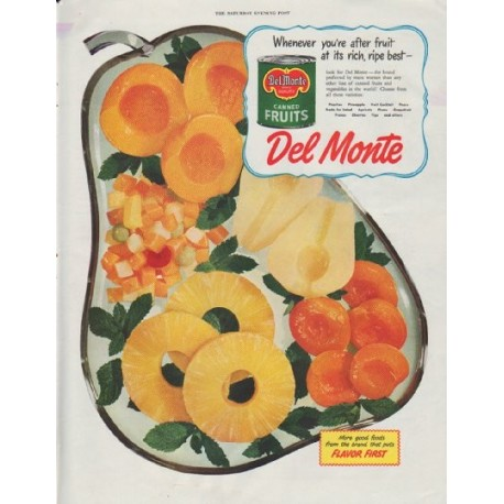 "1948 Del Monte Ad ""Whenever you're after fruit"""
