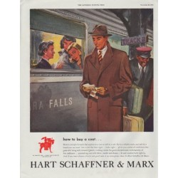 "1948 Hart Schaffner & Marx Ad ""how to buy a coat"""