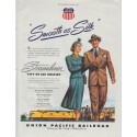 "1948 Union Pacific Railroad Ad ""Smooth as Silk"""