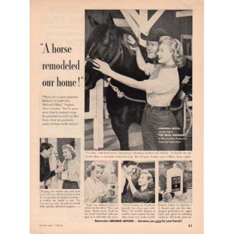 "1953 Jergens Lotion Ad ""Virginia Mayo"""