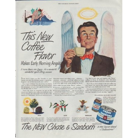 """1948 Chase & Sanborn Ad """"New Coffee Flavor"""""""