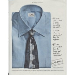 "1948 Manhattan Shirt Ad ""save hundreds"""