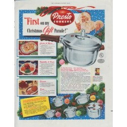 "1948 Presto Cookers Ad ""Christmas Gift Parade"""