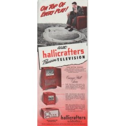 "1948 Hallicrafters Ad ""On Top"""
