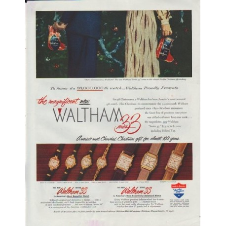 """1948 Waltham Watches Ad """"Series 33"""""""
