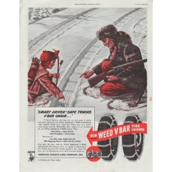 """1948 American Chain and Cable Company Ad """"Smart Driver"""""""