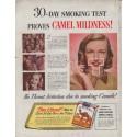 "1948 Camel Cigarettes Ad ""Smoking Test"""