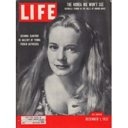 "1952 LIFE Magazine Cover Page ""Suzanne Cloutier"""