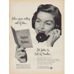"1952 Bell Telephone System Ad ""out-of-town"""