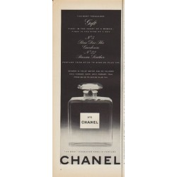 "1952 Chanel Perfume Ad ""The Most Treasured Gift"""