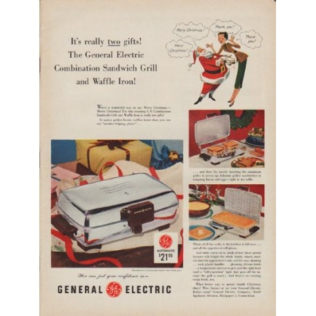 "1952 General Electric Ad ""two gifts"""